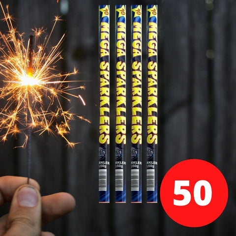 "Bulk Buy 16"" Inch Long Sparklers (PACK OF 50) In Tubes"