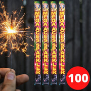 "Sparklers - Bulk Buy 18"" Inch Coloured Effect (45cm) Sparklers (PACK OF 100)"