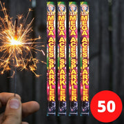 "Sparklers - Bulk Buy 18"" Inch Coloured Effect (45cm) Sparklers (PACK OF 50)"