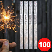 "Sparklers - Bulk Buy 18"" Inch Gold Effect (45cm) Sparklers Gold Coated (PACK OF 100)"