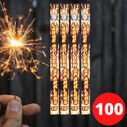 "Sparklers - Bulk Buy 18"" Inch Gold Effect (45cm) Sparklers (PACK OF 100)"