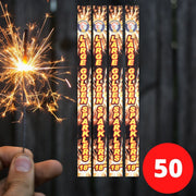 "Sparklers - Bulk Buy 18"" Inch Gold Effect (45cm) Sparklers (PACK OF 50)"