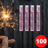 "Sparklers - Bulk Buy 4"" Inch Indoor Gold Effect (10cm) Sparklers (PACK OF 100)"