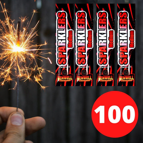 "Bulk Buy 7"" Inch Gold Effect (18cm) Sparklers (PACK OF 100)"