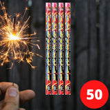 Sparklers - Bulk Buy Assorted Sparklers (PACK OF 50) In Tubes