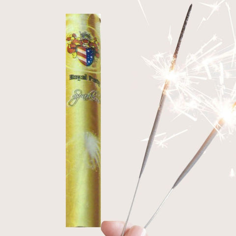 "Pack Of 10 Royal Party - 4"" Inch Small Mini Sparklers"