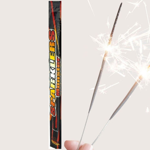 "Sparklers - Pack Of 4 Benwell - 17"" Inch Large Monster Sparklers"