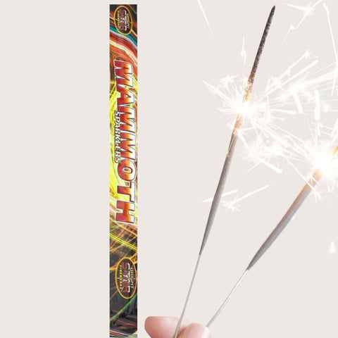 "Sparklers - Pack Of 4 Bright Star – 18"" Inch Mammoth Big Sparklers"