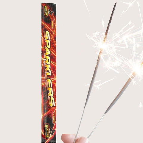 "Sparklers - Pack Of 4 Night Star – 14"" Inch Long Sparklers"