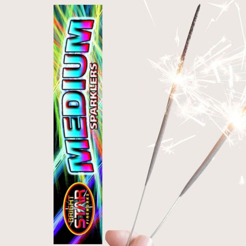 "Pack Of 5 Bright Star – 7"" Inch Regular Sparklers"