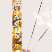 "Sparklers - Pack Of 5 Brothers – 10"" Inch Aces Medium Sparklers"