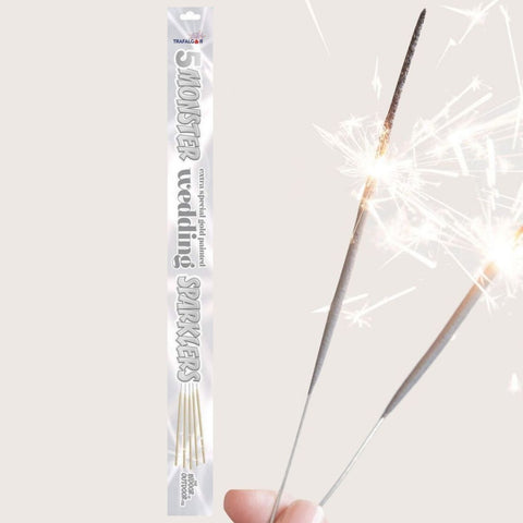 "Sparklers - Pack Of 5 Trafalgar – 18"" Inch Indoor And Outdoor Big Gold Coated Sparklers"