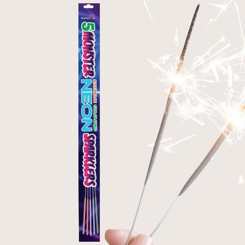 "Pack Of 5 Trafalgar – 18"" Inch Outdoor Big Neon Colour Coated Sparklers"