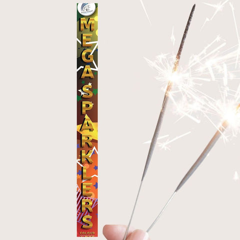 "Pack Of 6 Absolute – 18"" Inch Multi Coloured Big Sparklers"