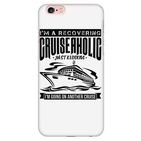 Cruise Lovers Cruise-a-holic White iPhone Case