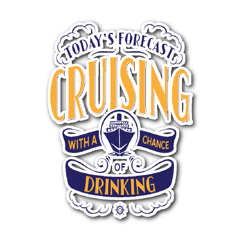 Cruise Lovers Cruise Forecast Sticker