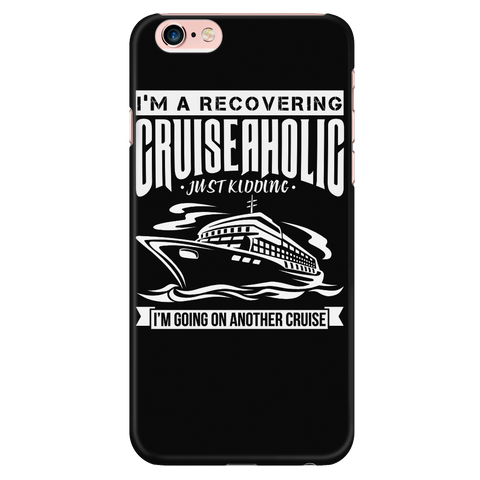 Cruise Lovers Cruise-a-holic Black iPhone Case