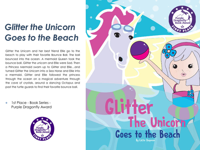 Glitter the Unicorn Goes to the Beach