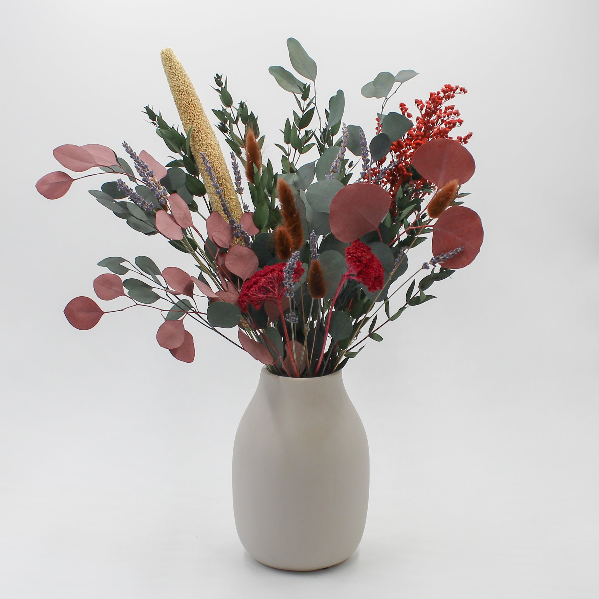 Preserved Foliage Eucalyptus and Pampas Bouquet