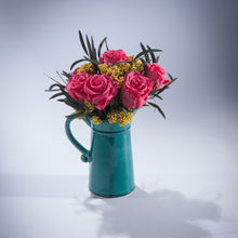 Little Green Jug Dark Pink