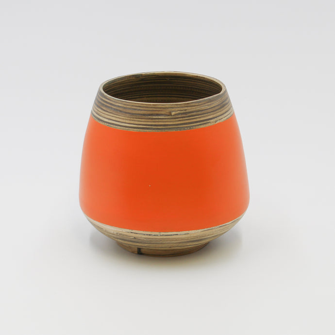 Orange Bamboo Pot