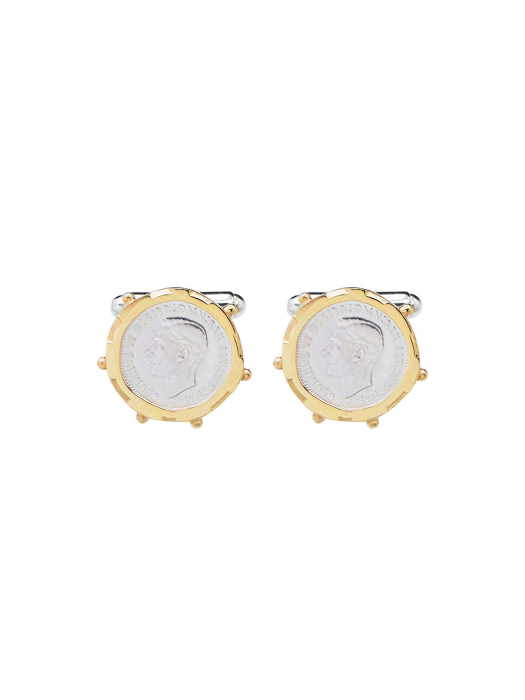 Fiorina Jewellery 3p Gold Encased Cufflinks