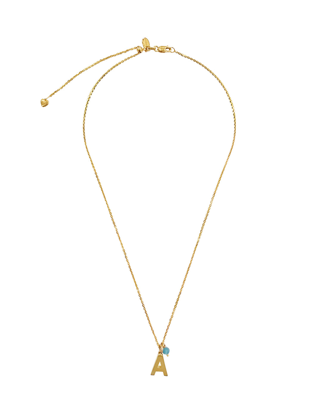 Fiorina Jewellery Gold Alphabet Street Necklace Aqua