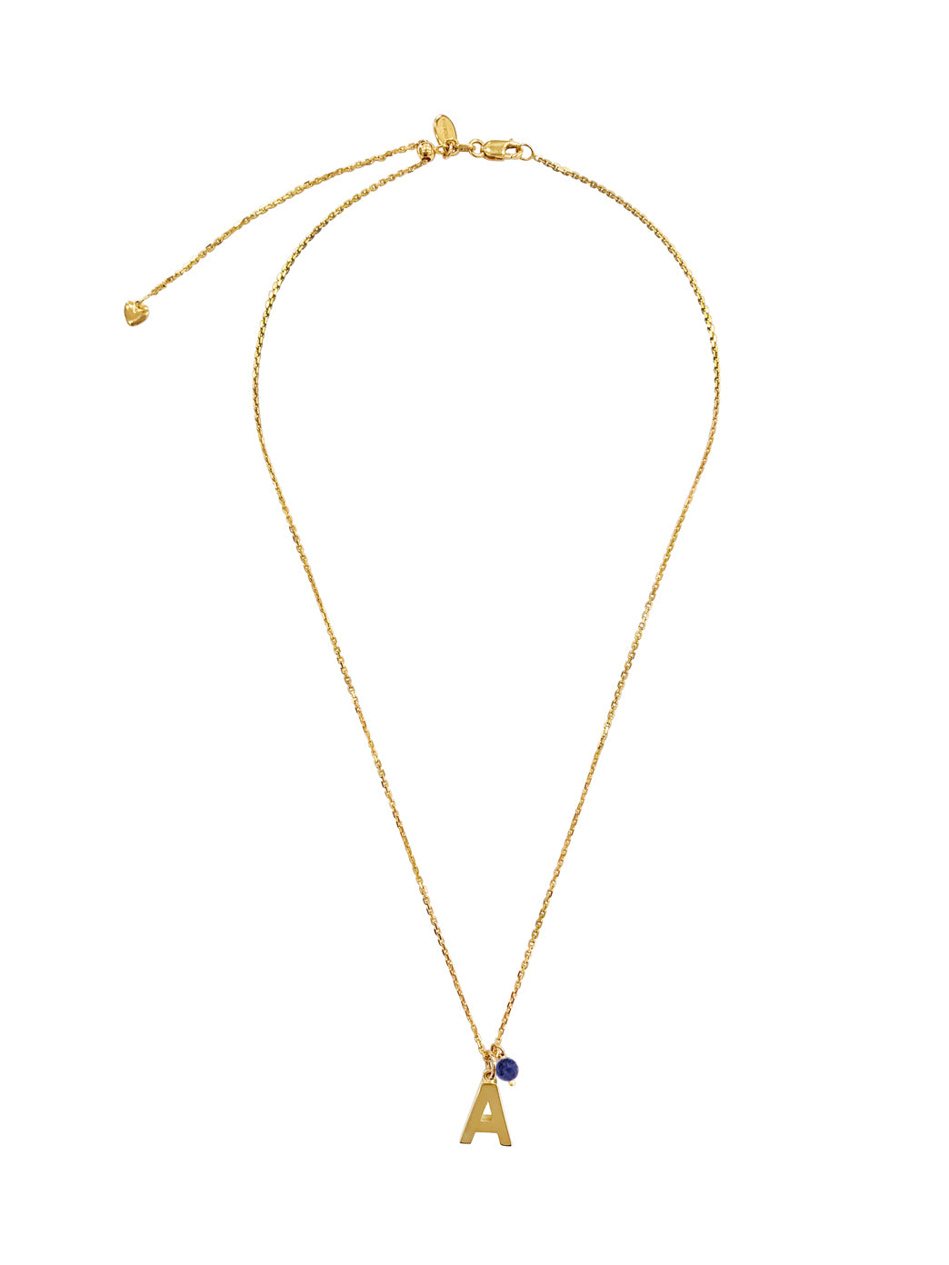 Fiorina Jewellery Gold Alphabet Street Necklace Sodalite