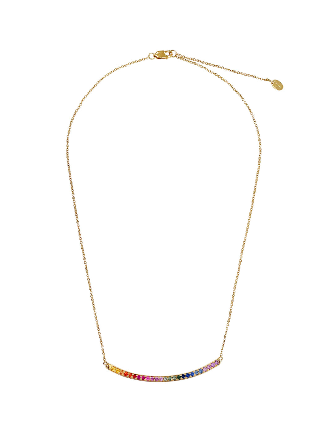 Fiorina Jewellery Arc Necklace Yellow Gold Chakra