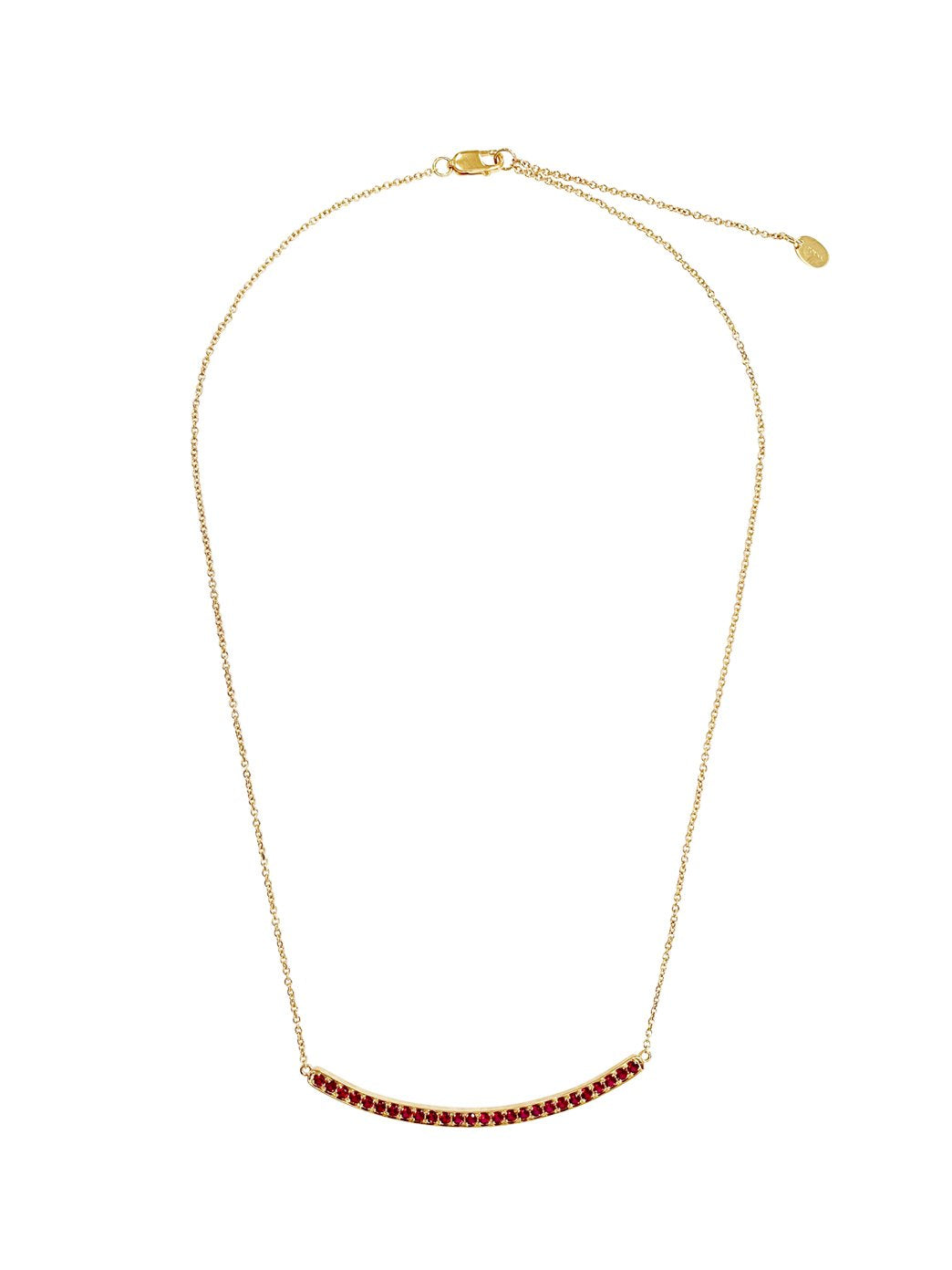Fiorina Jewellery Arc Necklace Yellow Gold Ruby