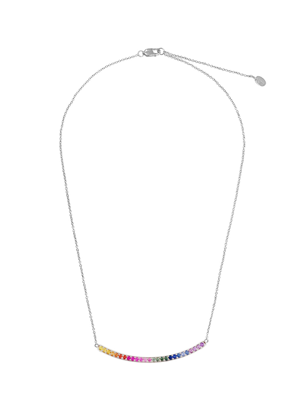 Fiorina Jewellery Arc Necklace White Gold Chakra