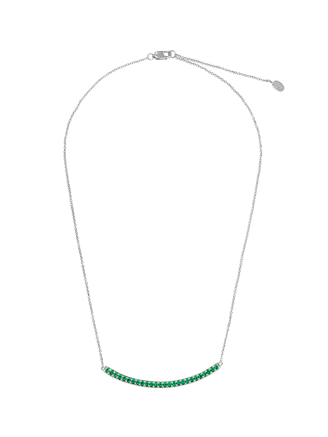 Fiorina Jewellery Arc Necklace White Gold Emerald