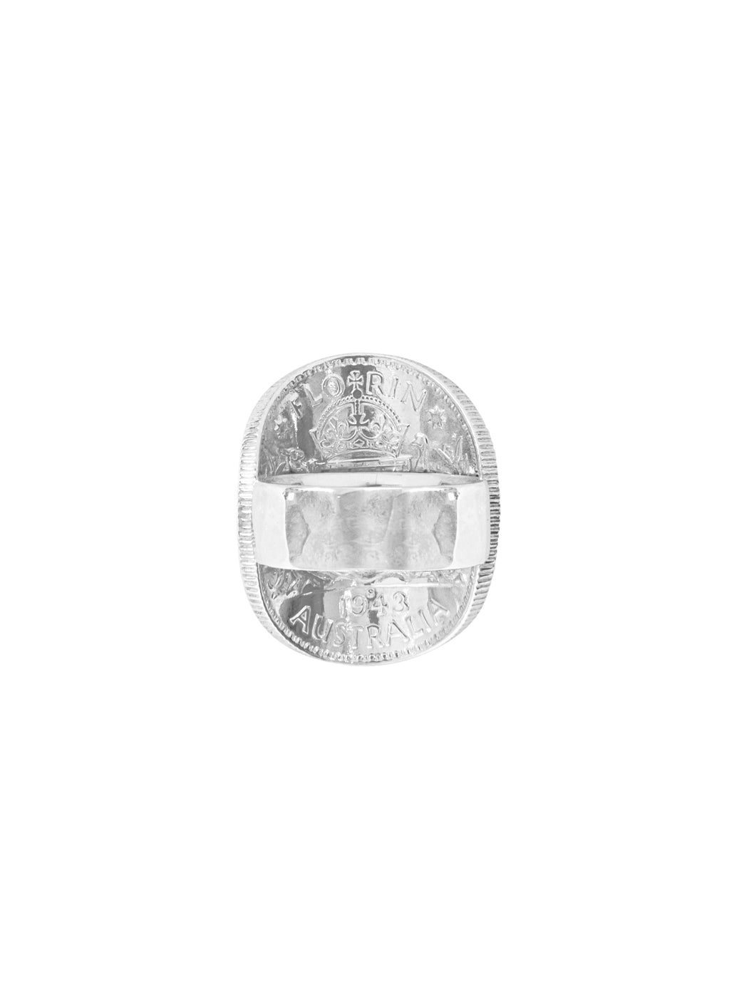 Fiorina Jewellery Men's Bent Coin Ring Back View