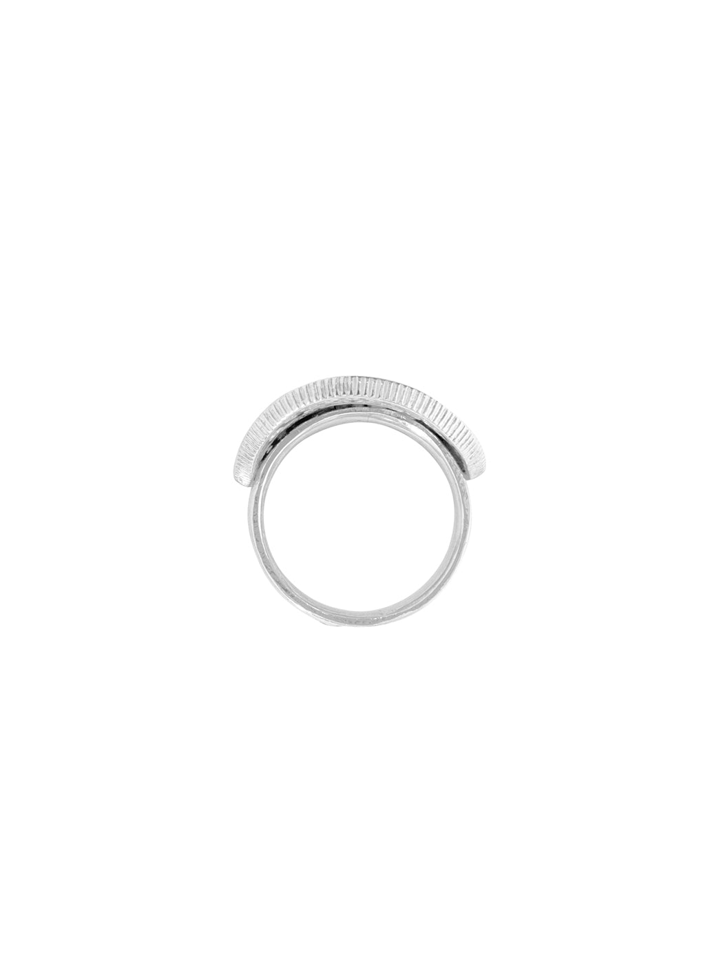 Fiorina Jewellery Men's Bent Coin Ring Side View
