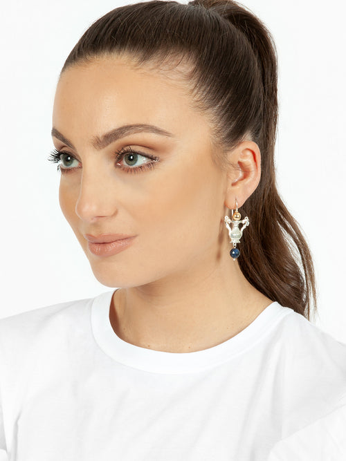 Fiorina Jewellery Como Urn Earrings Sodalite Model