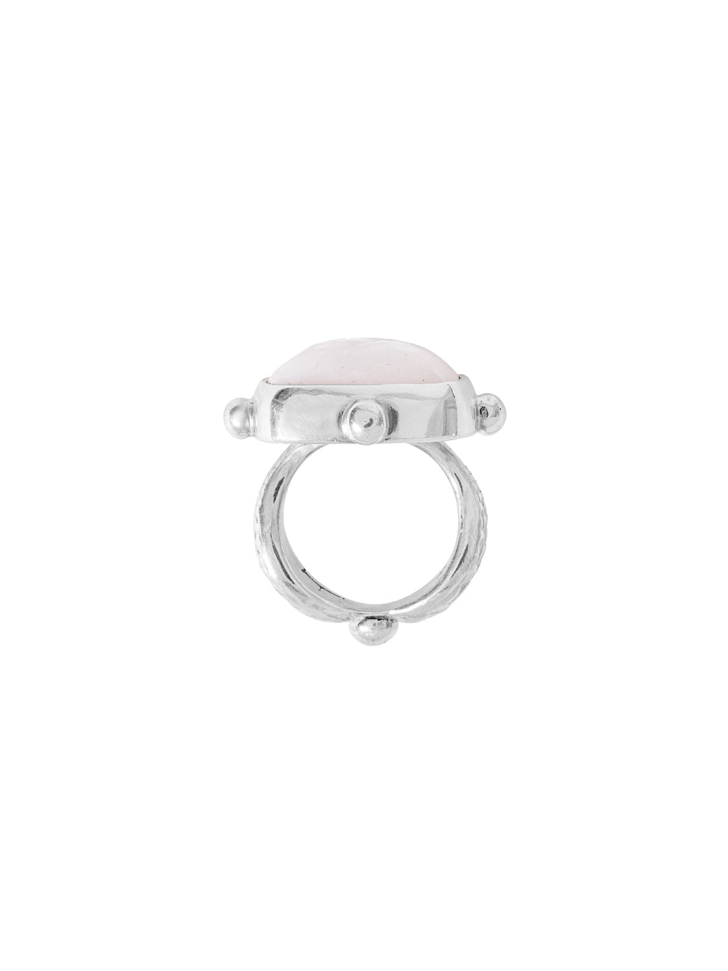 Fiorina Jewellery Cushion Cut Fishband Ring Side View