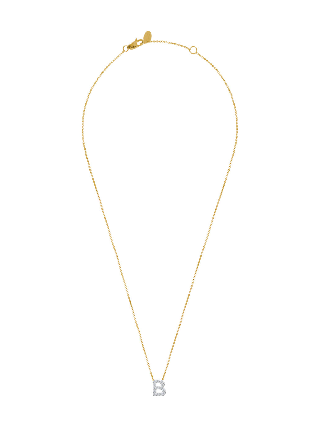 Fiorina Jewellery Diamond Alphabet Street Necklaces Gold Chain B