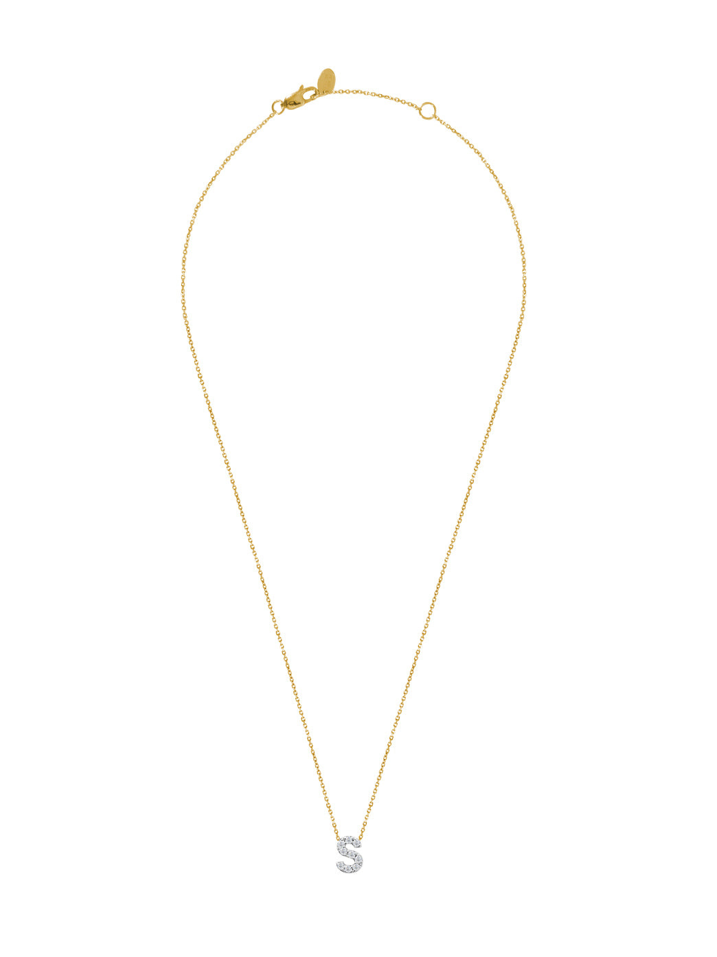 Fiorina Jewellery Diamond Alphabet Street Necklaces Gold Chain S