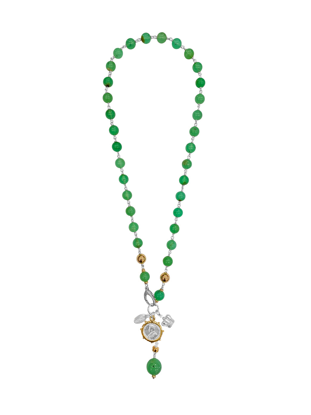 Fiorina Jewellery Elite Monster Pearlina Necklace Chrysoprase