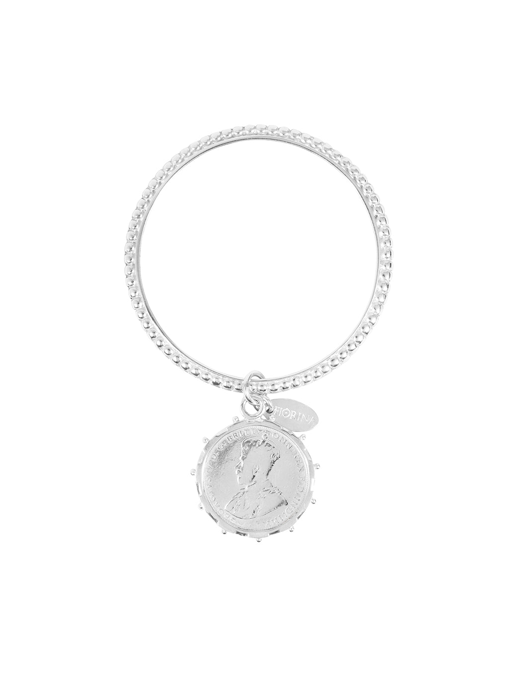 Fiorina Jewellery Alia Bangle with Silver Encased Coin