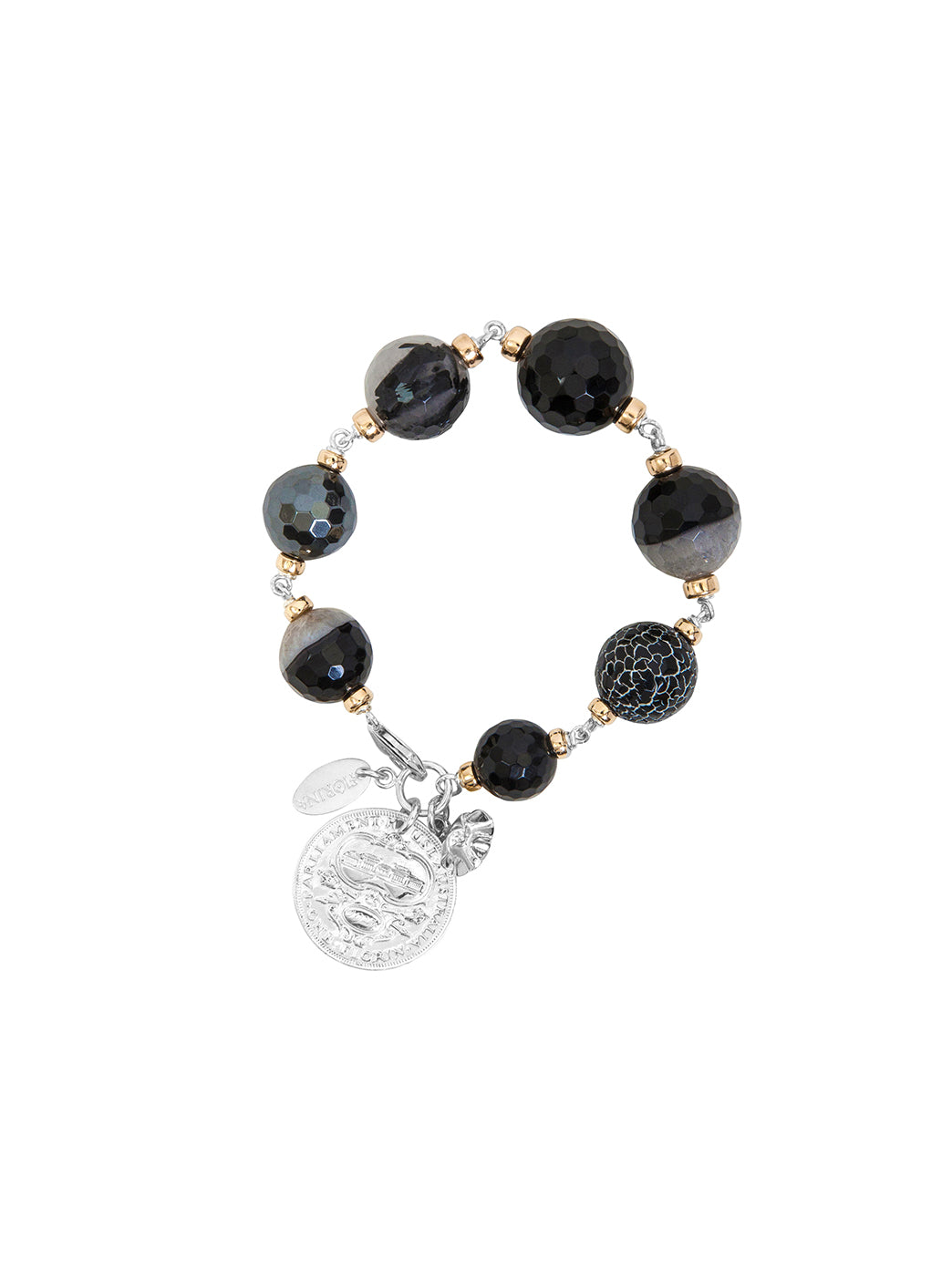 Fiorina Jewellery Bubble Bracelet Black