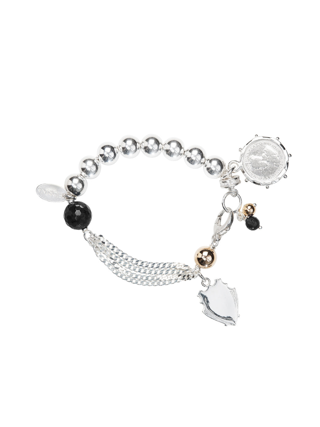 Fiorina Jewellery Monster Simple Komboloy Bracelet Black Onyx