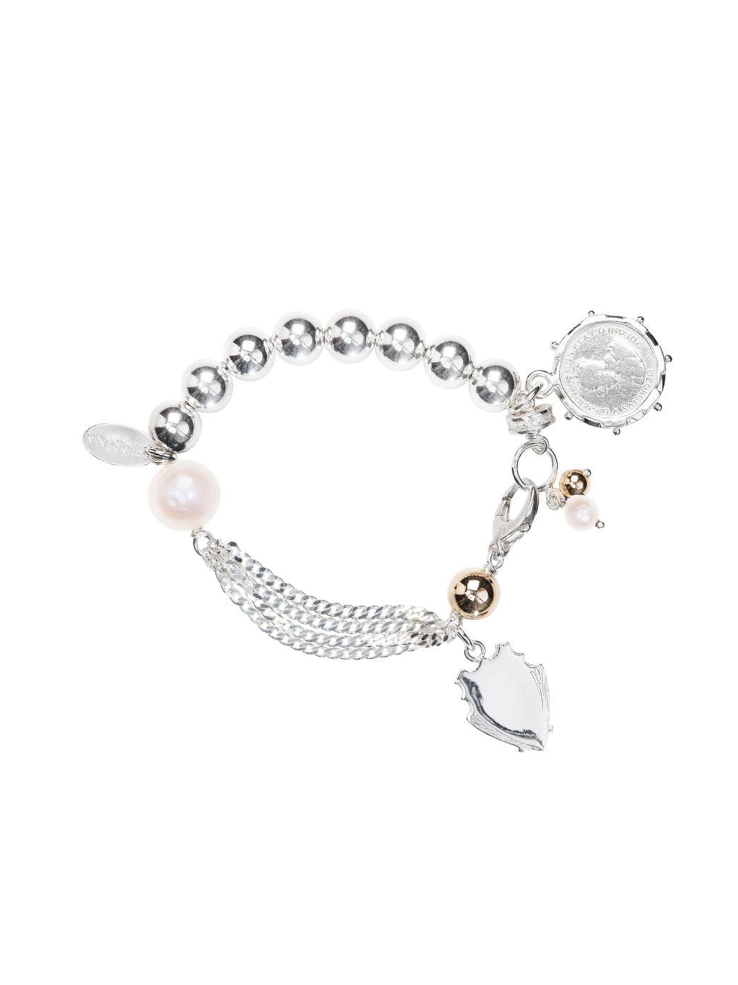 Fiorina Jewellery Monster Simple Komboloy Bracelet Pearl