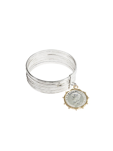Alia Bangle with Gold Encased Coin