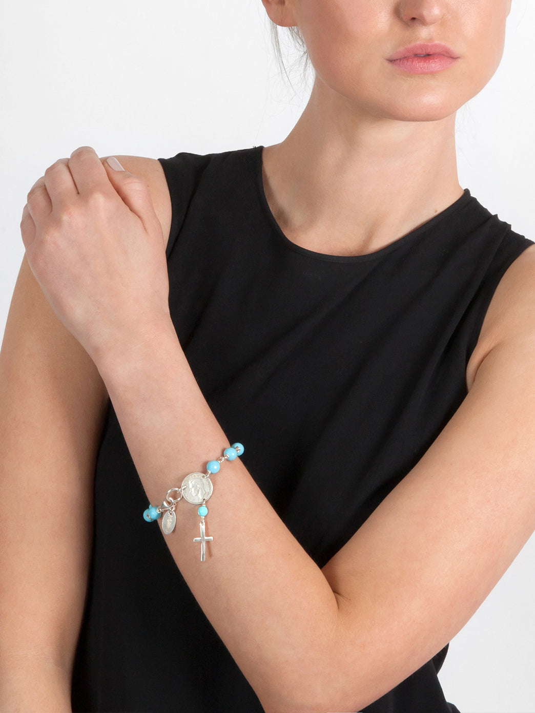Fiorina Jewellery Rosary Bracelet 8mm Turquoise Model