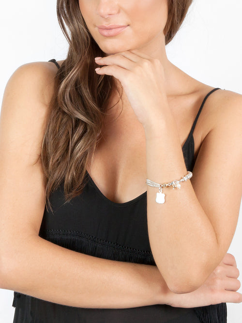 Fiorina Jewellery Simple Komboloy Pearl Bracelet Model