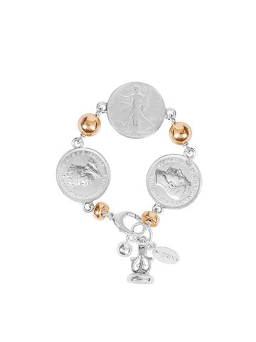 Alia Bangle with Silver Encased Coin