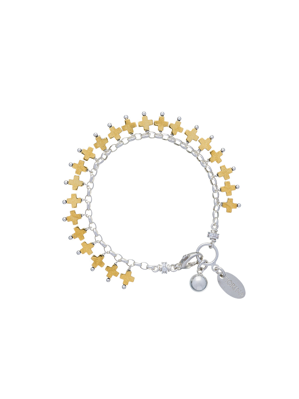 Fiorina Jewellery Raindrop Bracelet Gold Cross