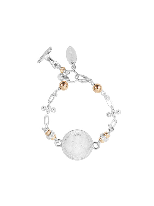 Fiorina Jewellery Cathedral Coin Bracelet