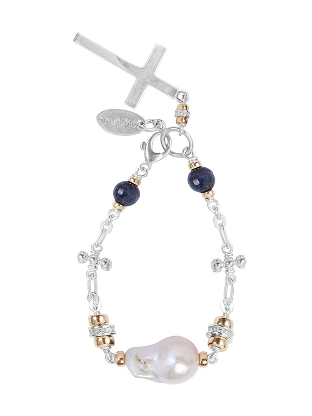 Fiorina Jewellery Cathedral Bracelet White Pearl